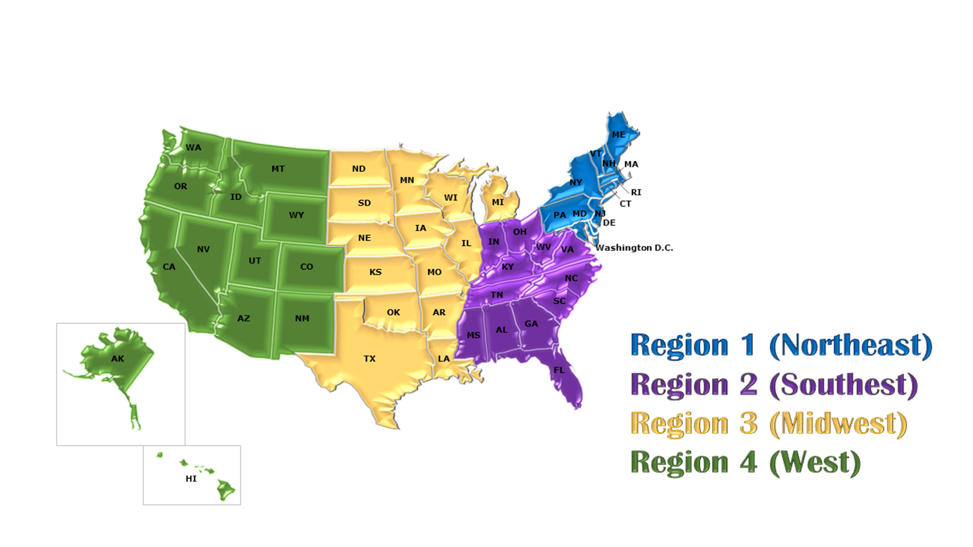 ABC Region Map