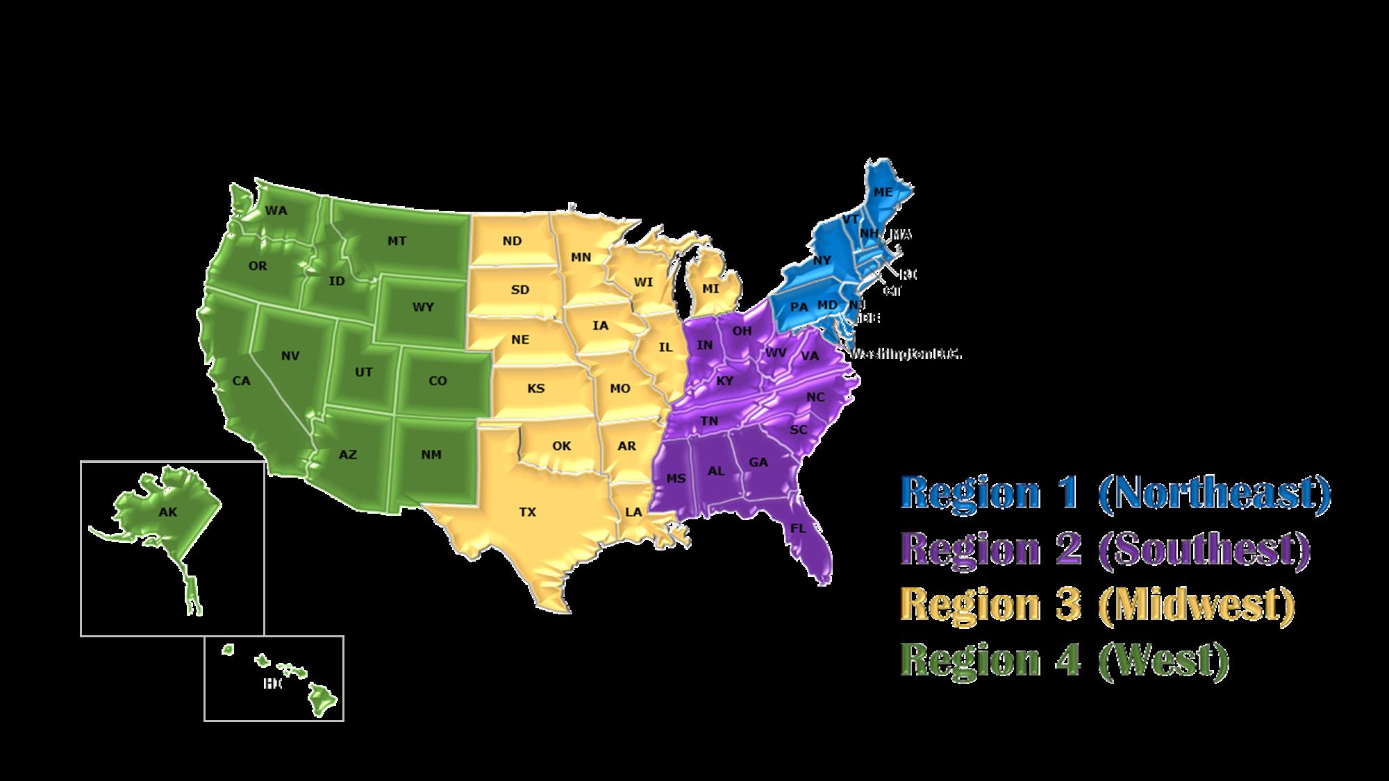ABC Region Map