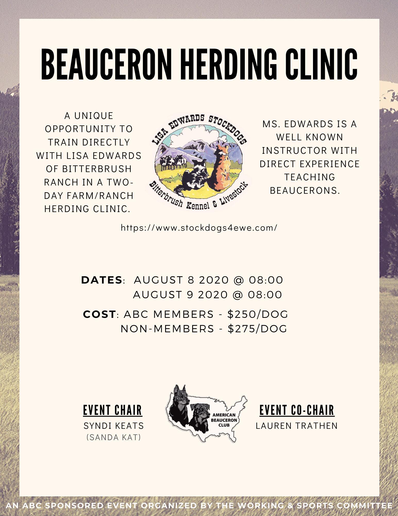 Beauceron Herding Clinic August 2020